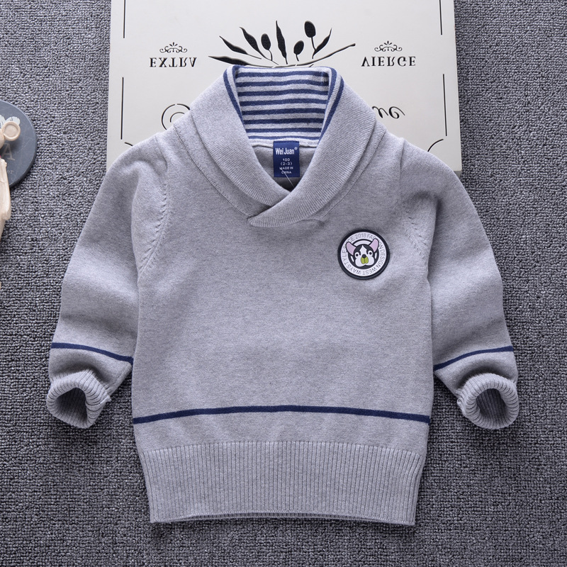 Cardigan Sweater for Children 2018 Casual Brand Design Lapel Pullover Baby Boy Kids Clothes Infant Sweaters 2-7Y Toddler Top notch lapel faux flap pocket texture cardigan