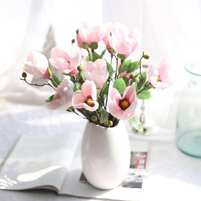 artificial flowers cheap artificial silk fake flowers magnolia flower wedding bouquet fleurs artificielles pour la decoration