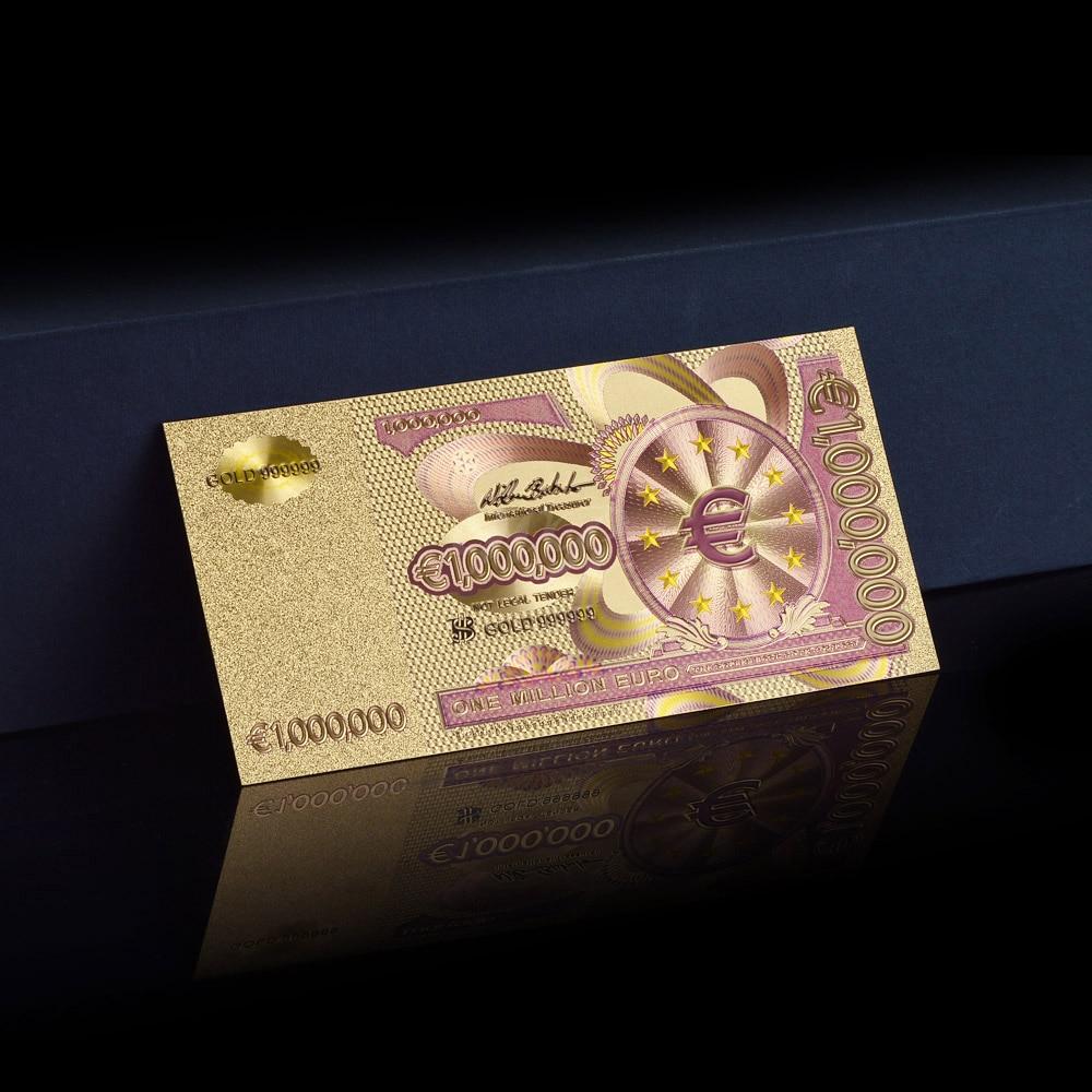 Metal rəngli qızıl dəsti, EURO BANKNOTES 8 ədəd 5, 10, 20, 50, - Ev dekoru - Fotoqrafiya 3