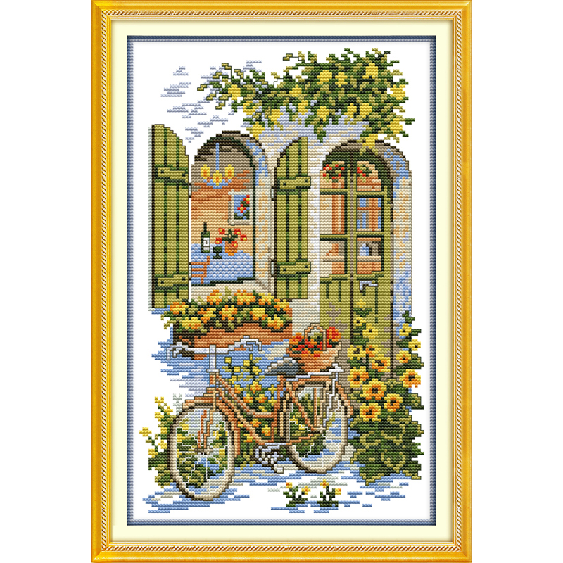 Everlasting love Christmas Fragrance house Ecological Chniese cotton Cross Stitch 11CT and 14CT stamped Printed New store sales