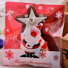 Cheap 10pcs/set or 20pcs/lot gift bags Christmas Cookie Biscuits Pastic Bag Packaging Wedding Gift Holders Santa Decoration
