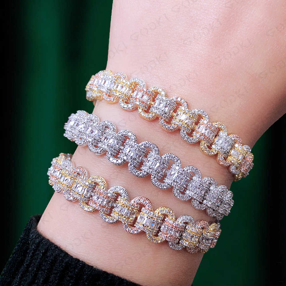GODKI Trendy Luxury Stackable Bangle For Women Wedding Full AAA Cubic Zircon Crystal CZ Dubai Silver Bracelet Party Jewelry 2019