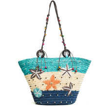 169e37ecef11d Yaz Bayanlar Hasır Çanta El Yapımı Dokuma Kontrast Peri Çiçek El omuz  çantaları Yeni Bayanlar Alışveriş Seyahat Plaj Çantası Has.