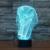 7 cores Atmosfera de Férias Decorativos Crianças gif Ilusion tPharaoh Estilo Egípcio 3D Luz CONDUZIDA Da Noite
