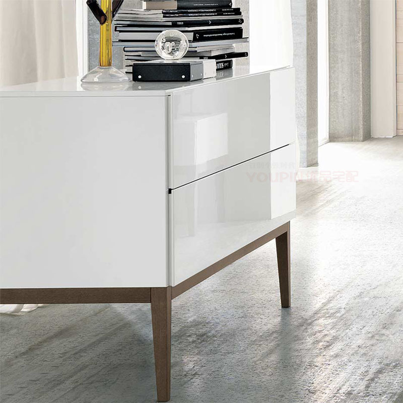High Gloss White Paint Cabinet Sideboard Wood Tripod Modern Minimalist Fashion New Designer Home Furniture In Sideboards From On Aliexpress