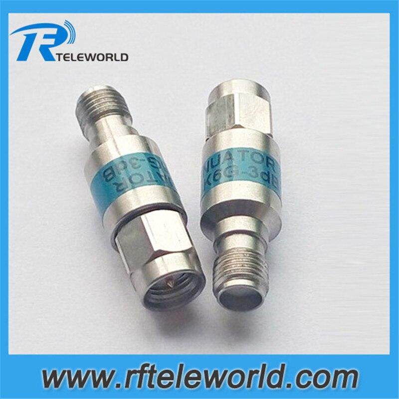 free shipping 10pcs lot 2W RF SMA coaxial fixed attenuator 6GHz 50ohms 1db 3db 6db 10db