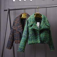 Wool Blends Coat Women Autumn Winter Slim Short Tweed Jacket Outwear Fashion Female Lapel Overcoat Thick Ladies Jacket Coat O669