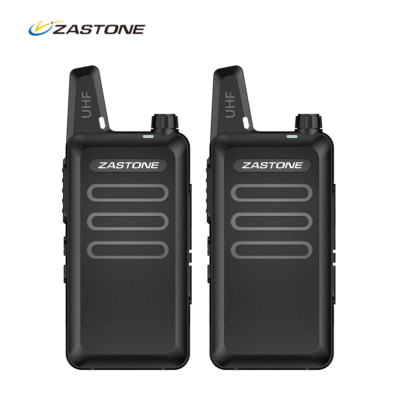 Zastone walkie talkie bærbar skin radio UHF 400-470MHz mini HF Transceiver To-vejs radiokommunikator til jagtradio