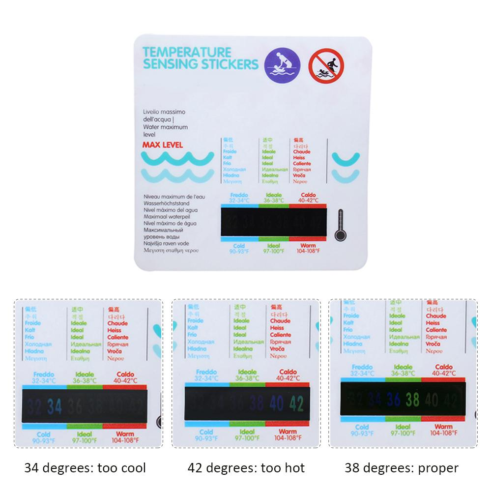 Baby Bath Water Temperature Measuring Card Sticker Bathtub Pool Cartoon Temperature Card Baby Bath Water Temperature Stickers