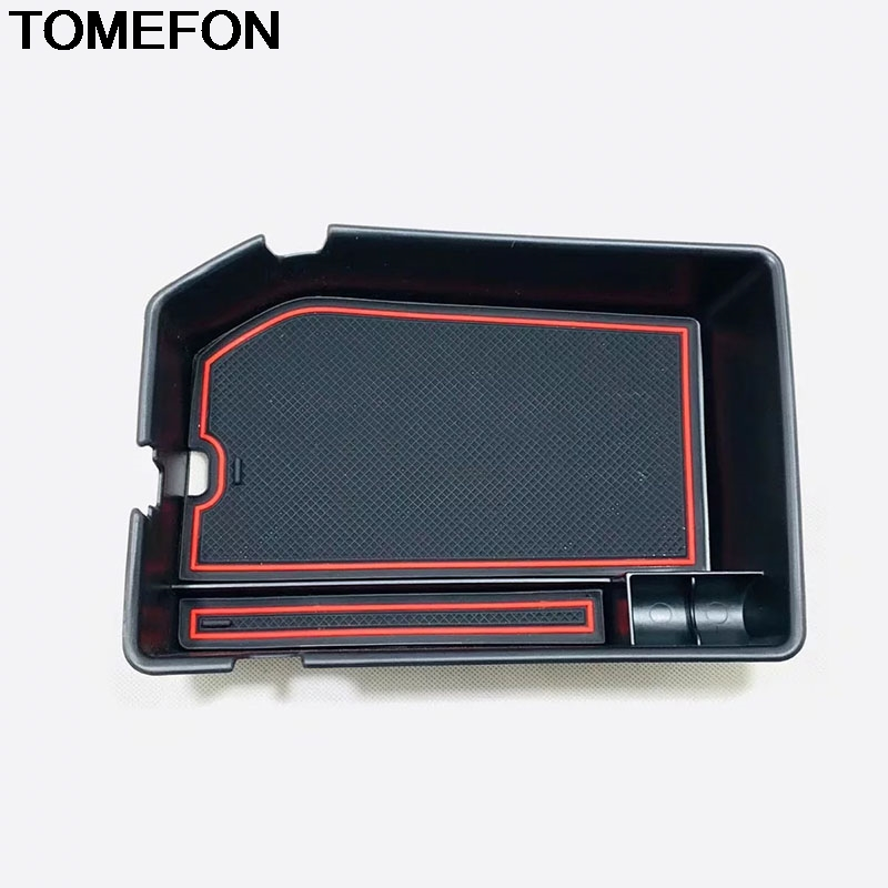 TOMEFON For Hyundai Tucson LHD 2019 2020 Car Center Armrest Storage Glove Box Container Plastic Trim Interior Accessories ABS