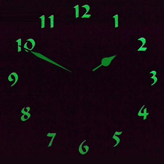 Luminous modern decoration European wall clock fashionable sitting room the bedroom creative personality birds clocks