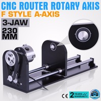 CNC ROUTER ACCESSORY F STYLE A AXIS, ROTARY AXIS WITH 80MM 3 JAW 230MM TRACK