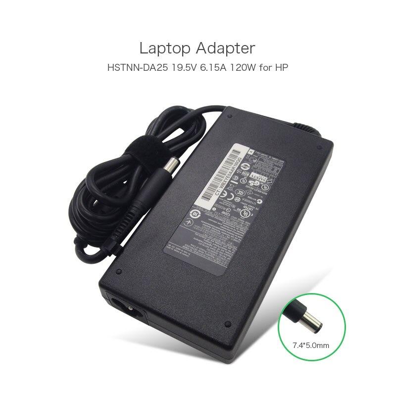 Slim Shape 19.5V 6.15A 120W Power Cord Adapter Charger for HP EliteBook 8460W 8560W HSTNN-DA25 ADP-120MH B 645156-001 Laptop 19 5v 11 8a 230w ac power adapter for hp laptop charger pa 1231 66hj 593534 001 608432 001 608432 003 adp 230db b 609946 001
