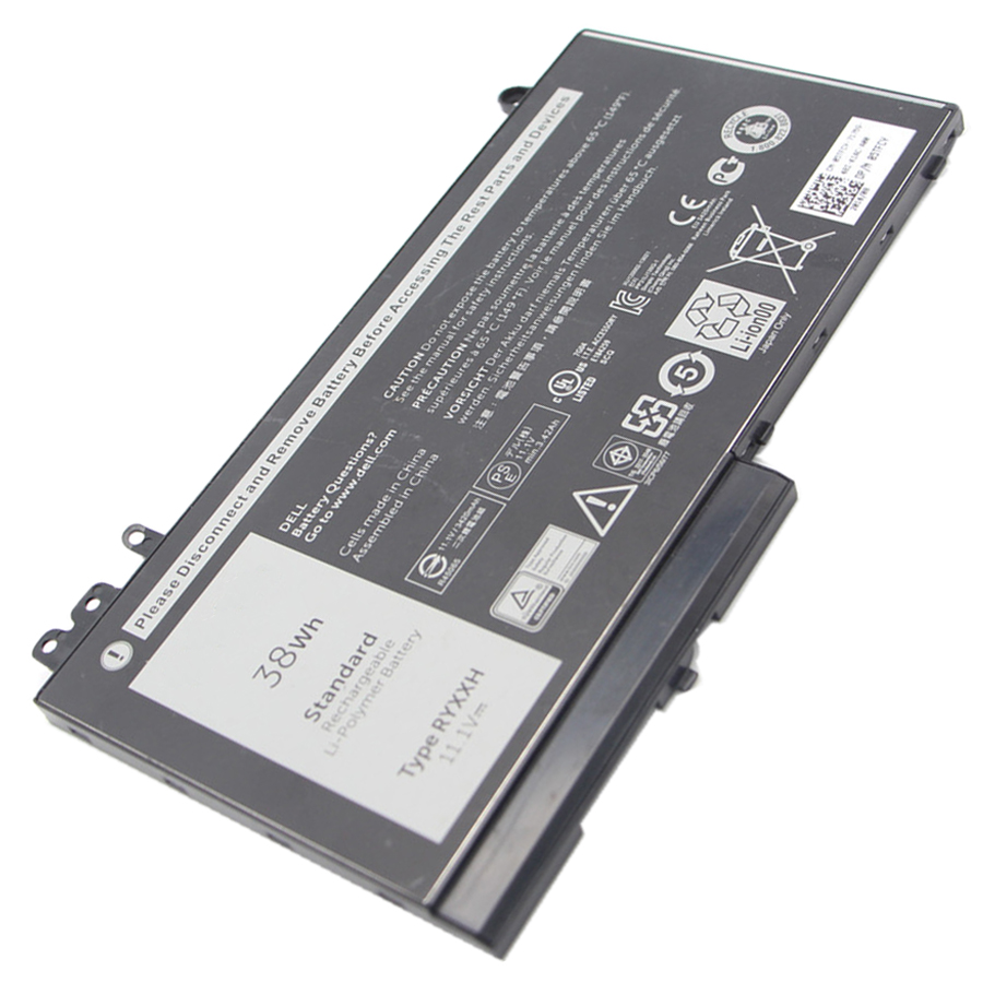 11.1V 38Wh Genuine Original New Laptop Battery RYXXH For DELL Latitude 12 5000 E5250 RYXXH Battery Bateria Free shipping