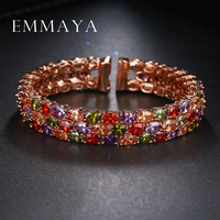 New Arrival Oval Shape Rose Gold Colors Austrian Rhinestones Bracelets For Women Rose Gold Plated Pulseira