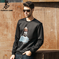 Pioneer Camp New Plus Size Black Hoodie Space Cotton Sweatshirt Casual Tracksuit Men Creneck Street  Chandal Hombre 620201