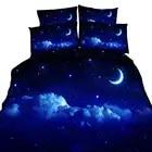 Крутой цифровой печати 3D Galaxy роскошные наборы постельных принадлежностей мягкий стильный Домашний постельное декорирование 3/4 шт., Постель...