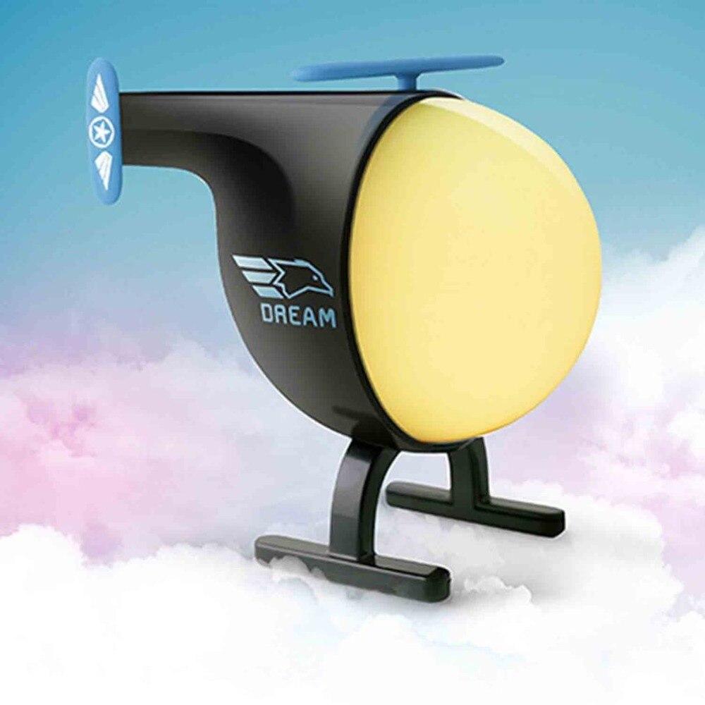 Creatieve Kleurrijke Led Helicopter Nachtlampje Lamp Usb Opladen Touch Sensor Automatische Timer Nightlights Voor Kinderen Kamer