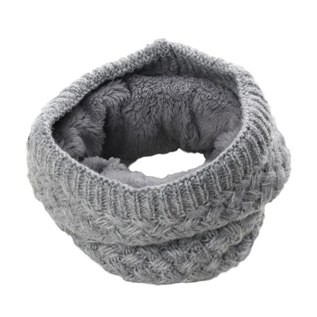 Brushed Knit Neck Warmer Circle Go Out Wrap Cowl Loop Snood Shawl 3