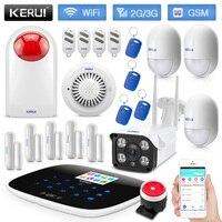 KERUI W193 WiFi 3g GSM PSTN RFID Беспроводная умная домашняя охранная сигнализация детектор движения противопожарная защита с IP камерой