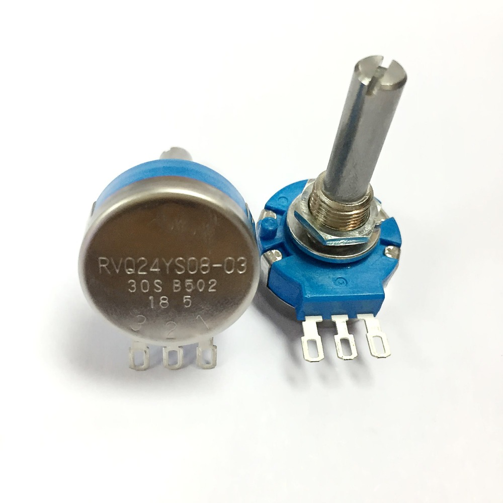 RVQ24YS08 03 30S B502 5k OHM  45 degrees Long Life Position Sensor Potentiometer, for Mobility Scooter-in Potentiometers from Electronic Components & Supplies