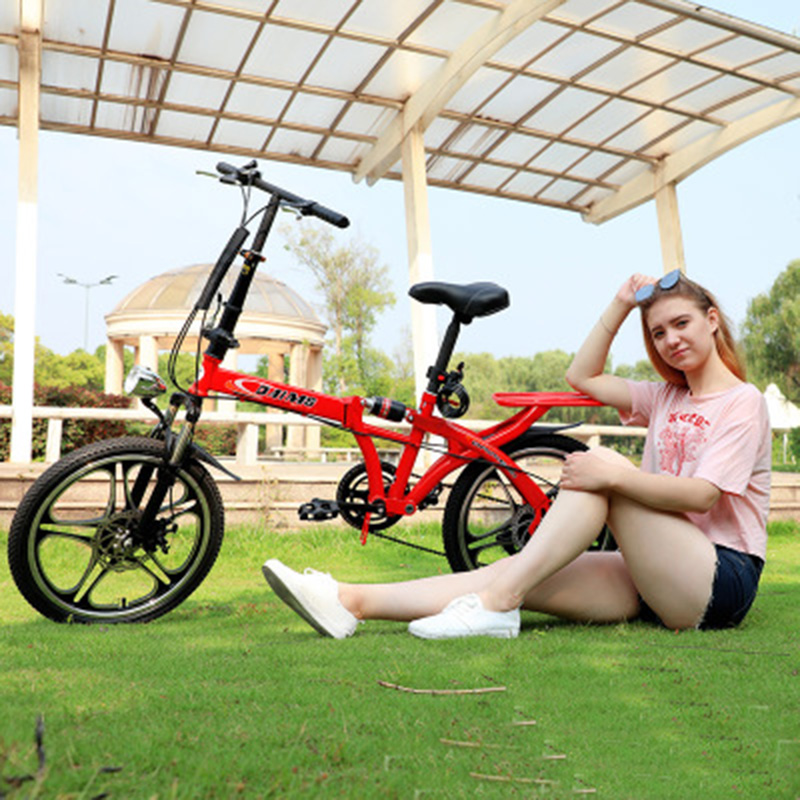 20 Inch Folding Speed Change Bicycle Male And Female Adult Children Student Disc Shock Absorber