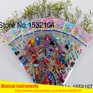 Musical instrument stickers,Guitar electronic organ mini stickers for kids toys stickers Notebook suitcase Creative stickers image