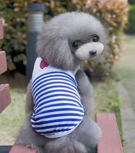 FG03 Dog Summer Navy cotton vest Pet Clothes summer dog Clothing 2016 new product