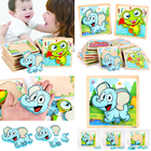 3D Wooden Animals Jigsaw Puzzle Board Kids Early Educational Toy