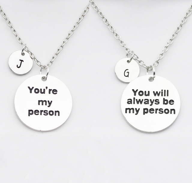 Aliexpress Buy Greys Anatomy Gift For Best Friends Necklace