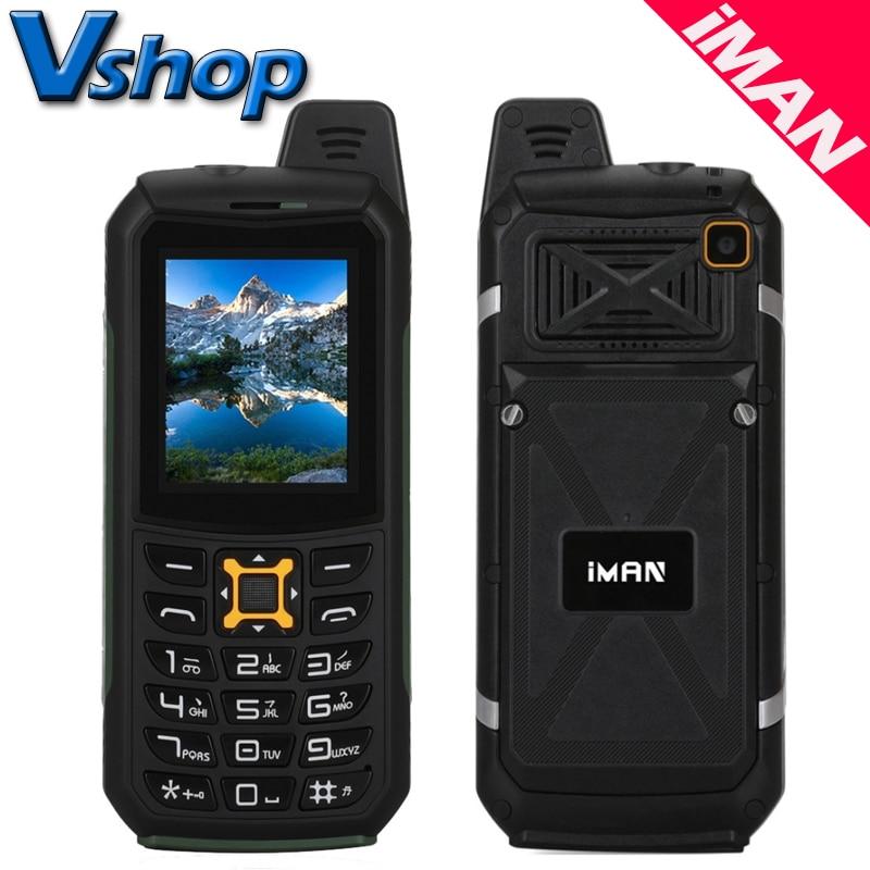 Original iMAN S2 IP68 Waterproof Shockproof Dustproof Mobile Phones 2200mAh Battery LED Flashlight FM Dual SIM