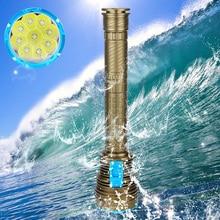 Bajo el agua 100 M Brillo 18000LM 9x XM-L2 LED Impermeable de Buceo Linterna Antorcha Luz