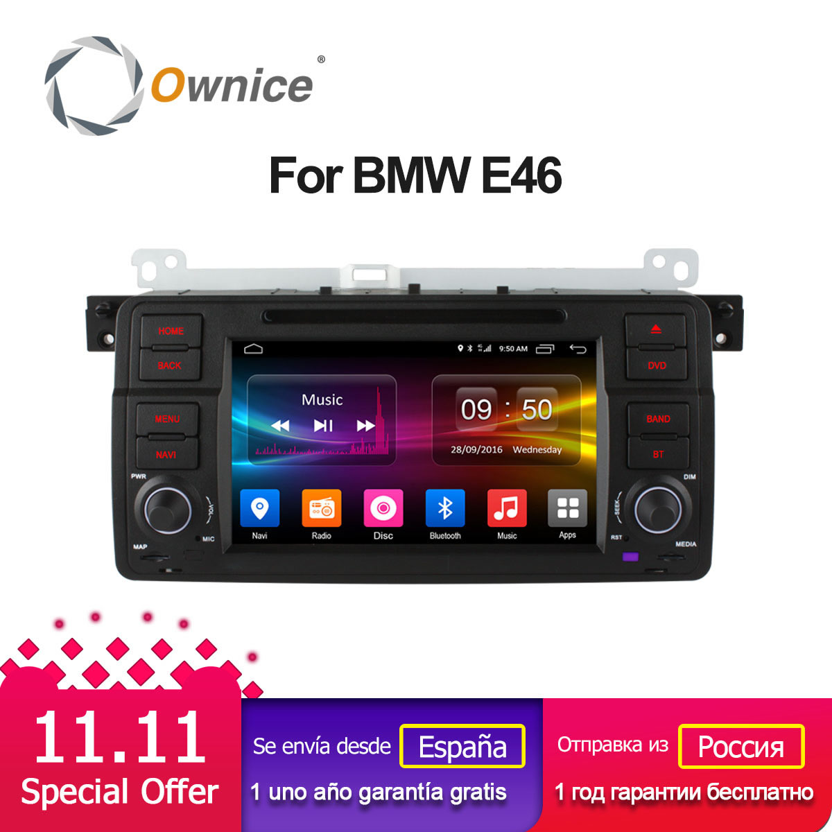 Ownice C500 Android 6.0 Octa 8 Core for bmw E46 M3 car dvd gps navi wifi 4G BT Radio RDS 2GB RAM 32GB ROM support DAB+ TPMS ownice c500 g10 octa core 2gb ram 32g rom android car dvd 8 1 gps for mazda 6 summit 2009 2015 wifi 4g lte radio dab dvr