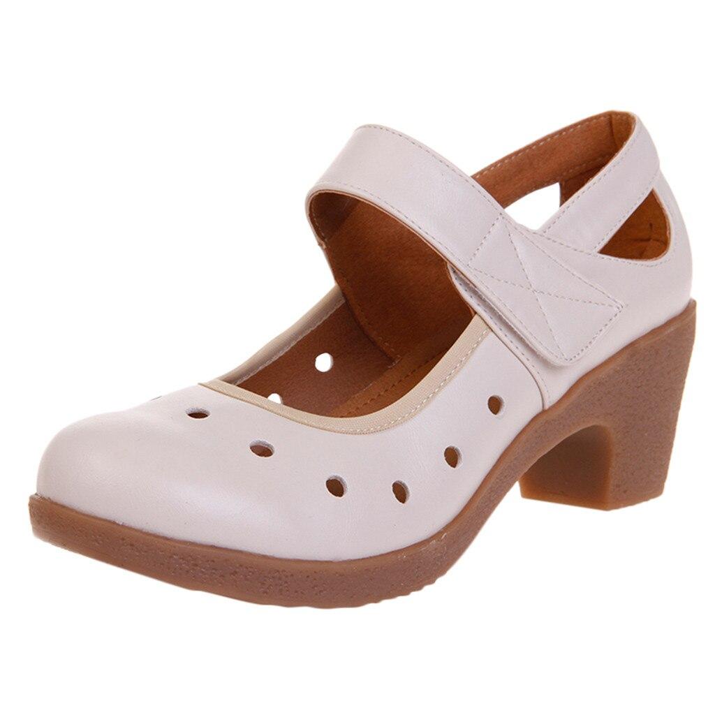 2d8553cff5203 Respirant Chaussures D été 78 A c Danse De Haute b Talon Semelles Doux  Mujer New ...