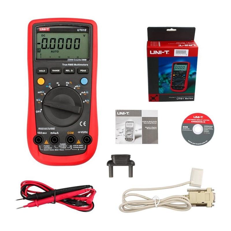 UNI-T UT-61E Modern Digital Multimeters UT61E AC DC Meter uni uni t ut136b дешевый метр autoranging