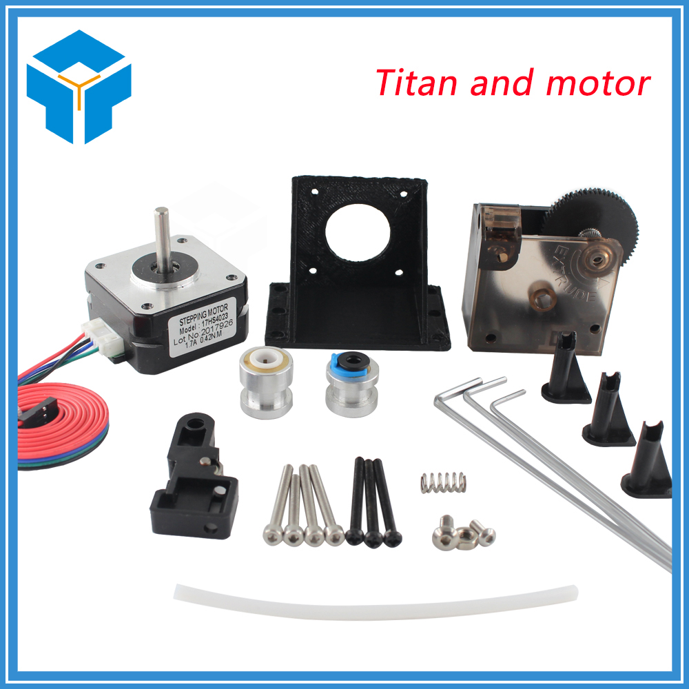 3d printer parts black widow extruder fully kits extruder for Print head stepper motor