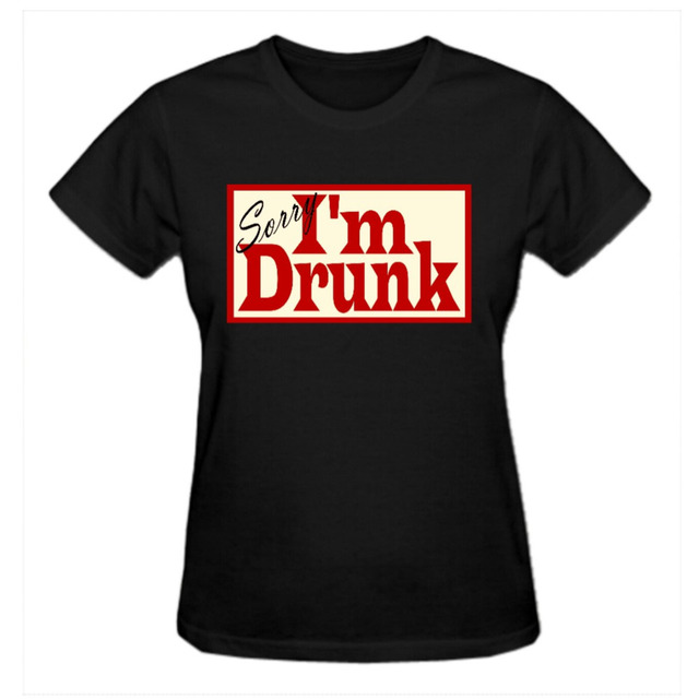 9460cd658 RTTMALL Funny Graphic O Neck Sorry.... Womens Quotes Tee-shirt Fashion