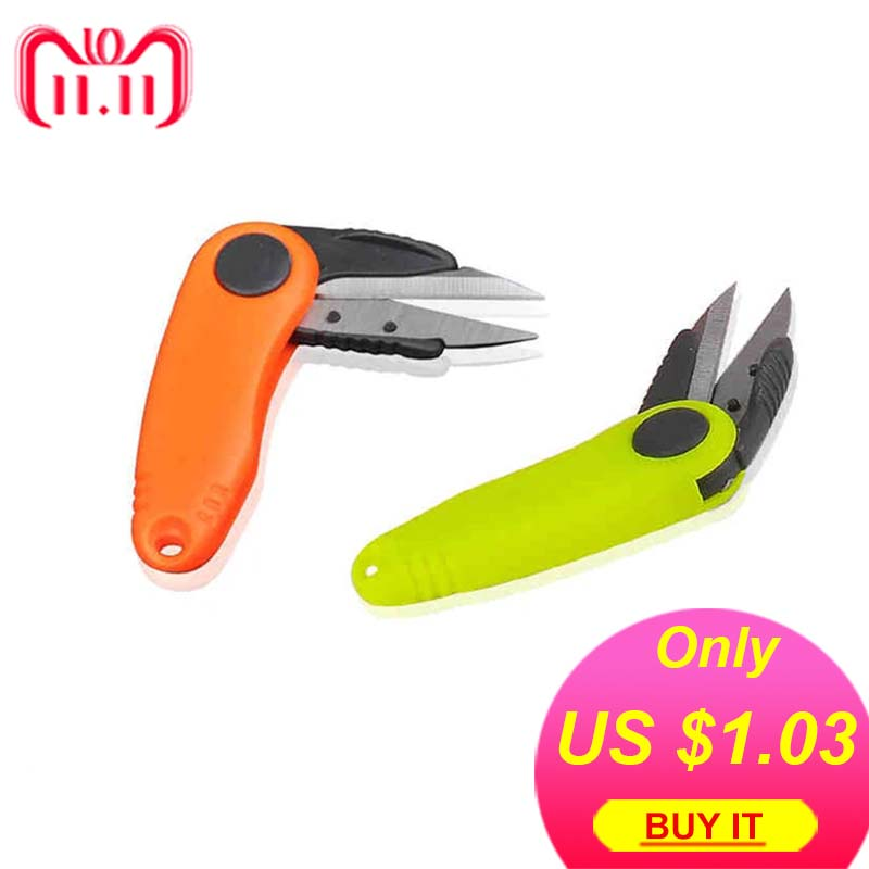 1PCS Mini Fishing Multi-function Portable Plastic Scissors Line Cutter Fishing Gear Fishing Equipment fishing line scissor cutter purple