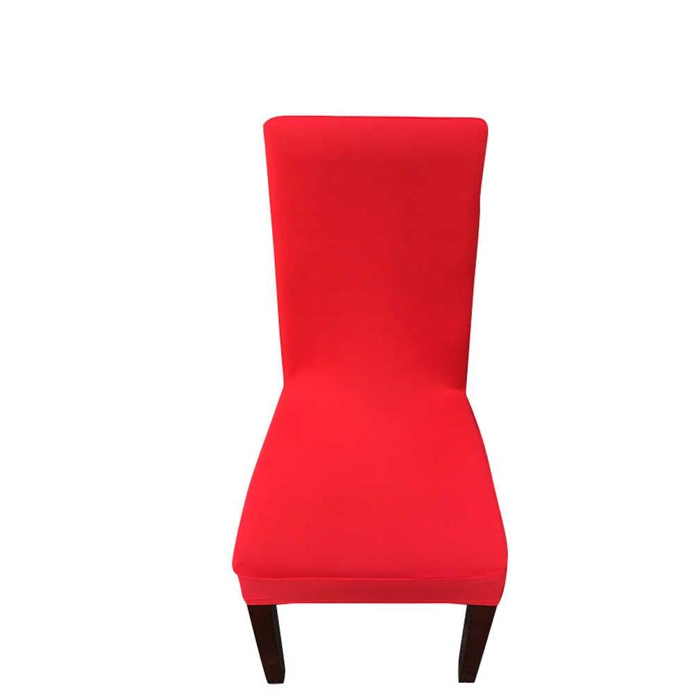 Moderno de Color liso funda de LICRA para silla elástico Silla de banquete de boda cubre comedor cubierta de asiento de silla de fiesta de bodas de la cubierta