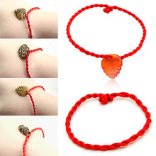 LNRRABC 2018 new Top Grade 1PC 3Patterns Braclets Red Hot Sale Maple Leaf Unisex Trendy Fashion women Jewelry pulseira feminina(China)