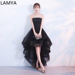 LAMYA винтажные длинные платья для выпускного вечера вырез лодочка, аппликация трапециевидной формы банкетное кружевное вечернее платье с би...