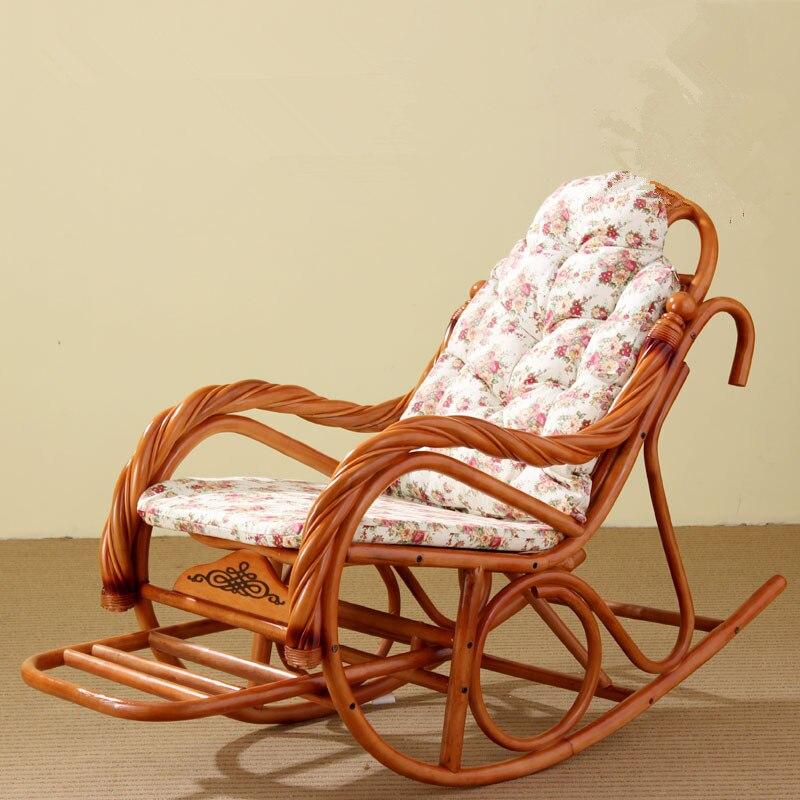 Kussen Voor Rotan Schommelstoel.Luxe Schommelstoel Met Kussens Rotan Rieten Meubelen Indoor