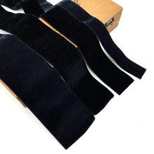 2Yards 20/32/38/50mm Width Black Stretch Elastic Velvet Ribbon Single Face Velour Webbing Headband Hair Band Accessories