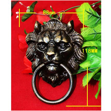 Brass Chinese Vintage Animal Beast Head Furniture Door Pull Handle,88*118mm,1PC