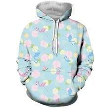 2018 New Fashion Flamingo 3d Printed Hoodie For Women Men Hoodies/Sweatshirt Baseball Button Tee Tops