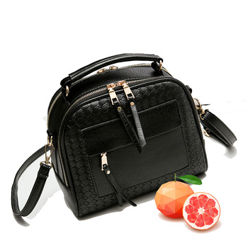 spring Women Bags Weave Tassel PU Leather Handbags Women Shoulder Knitting Bag Ladies Casual Women Messenger Bags