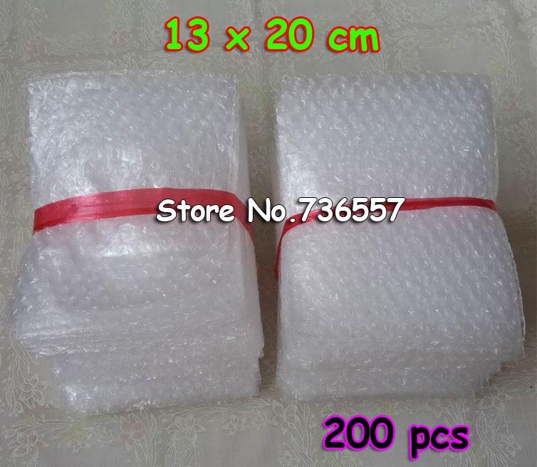 13x20cm 0.06mm 200pcs New Wrap Envelopes/ White Plastic Bubble Bags/LDPE Packing Material Bubble Bag Wholesale Price