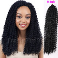 "14""Synthetic hairstyles Freetress Water Wave Hair extension Freetress twist Pre-loop Hair Bohemian curly crochet braids 40 roots"
