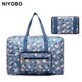 Новый стиль Большой емкости складные сумки женщины печати портативный сумка багаж женская tote сумки PT1062