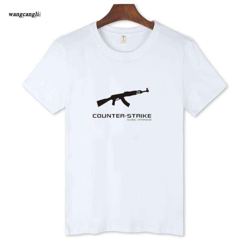 2017 O Neck summer mens T font b Shirt b font CSGO game Trendy Short Sleeve